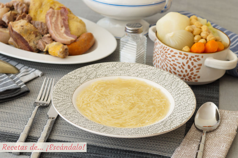 Cocido madrileno. Receta tradicional, facil y deliciosa