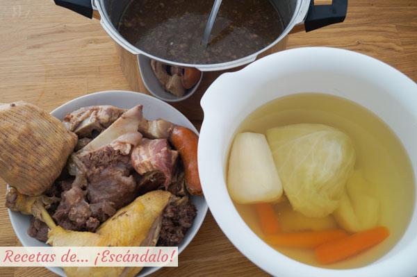 Como hacer cocido madrileno
