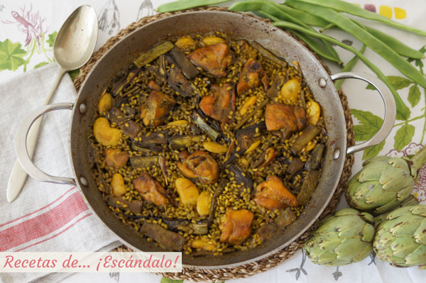 Como hacer paella valenciana. Receta tradicional