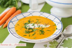 Crema de zanahoria, muy facil y cremosa