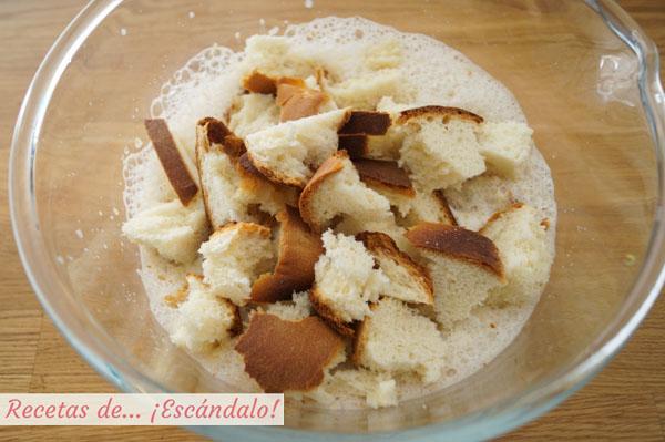 Ingredientes pan de calatrava o pudin de pan