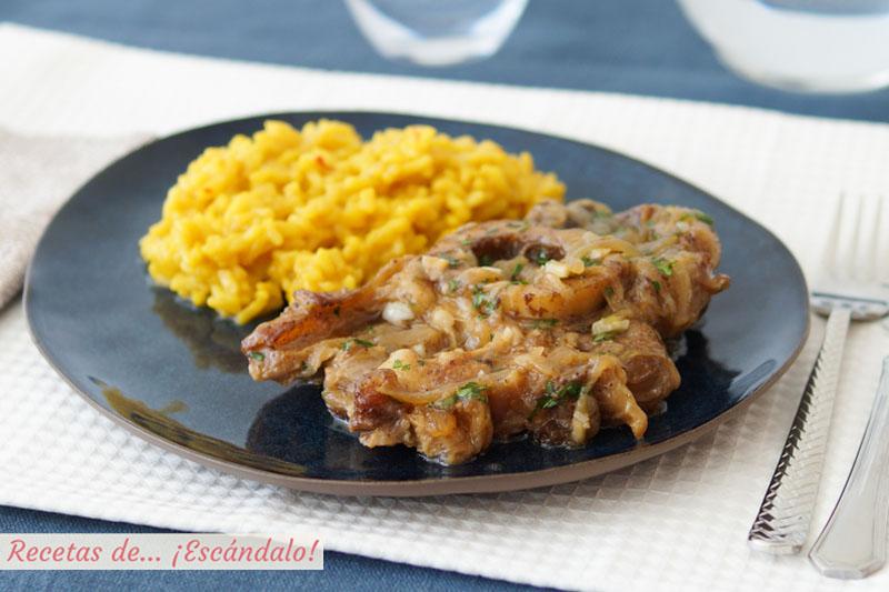 Osobuco de ternera a la milanesa con gremolata y risotto amarillo a la milanesa