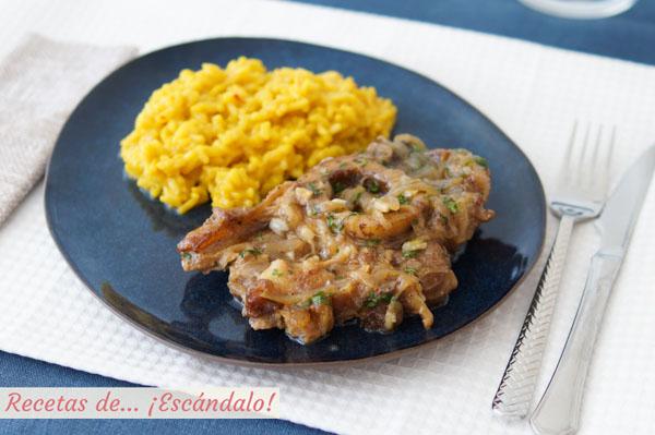 Receta de osobuco de ternera a la milanesa con gremolata y risotto amarillo a la milanesa