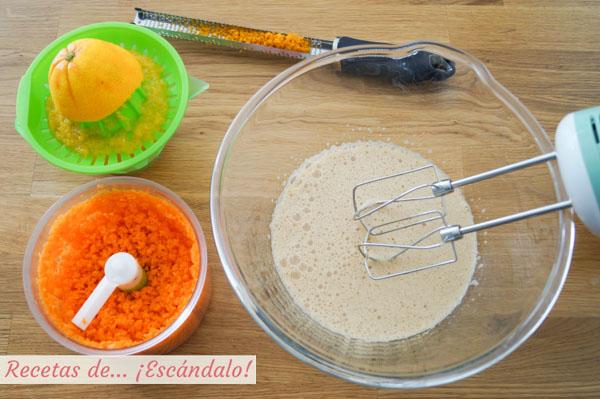 Ingredientes tarta de zanahoria o carrot cake
