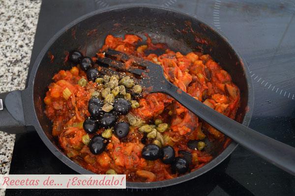 Caponata siciliana de verduras
