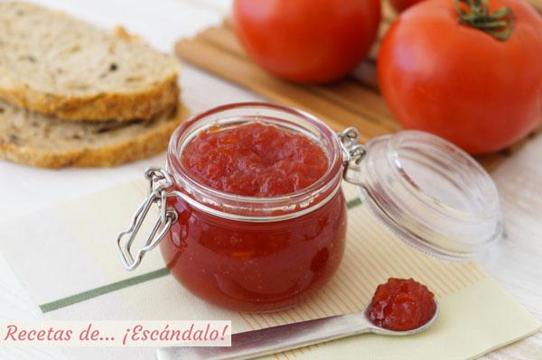 Como hacer mermelada de tomate casera. Receta muy facil