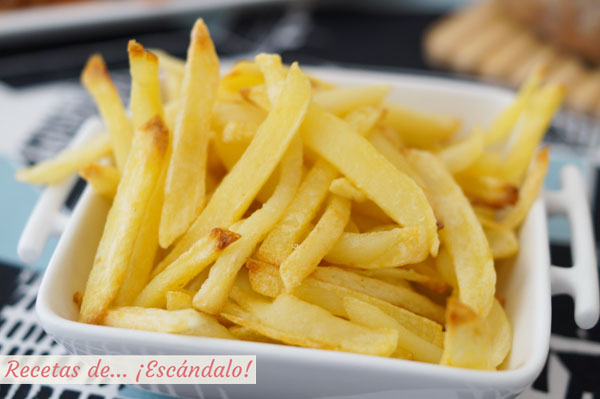 Receta de patatas fritas al horno, muy ricas y sin apenas aceite