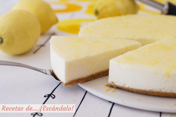 Receta de tarta de limon y queso fria, muy facil y sin horno