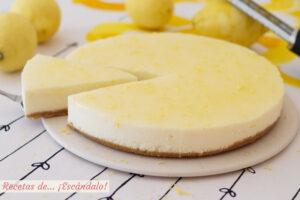 Tarta de limón y queso fría. Receta muy fácil y sin horno