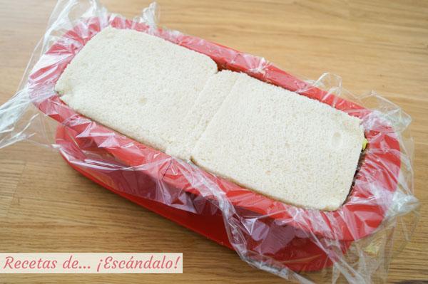 Como hacer pastel de atun con pan de molde