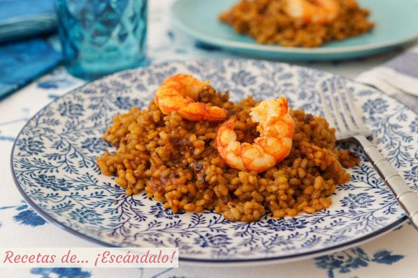 Receta de arroz con gambas, muy rico y sencillo