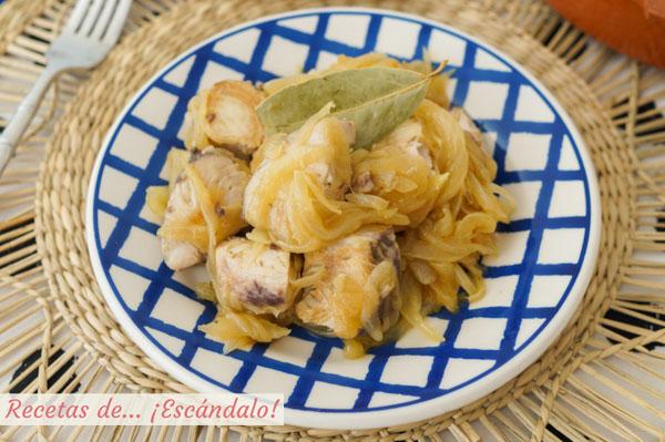 Receta de bonito encebollado, delicioso y facil