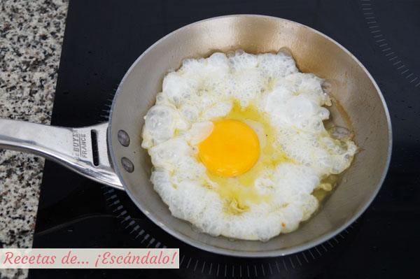 Receta de huevo frito perfecto