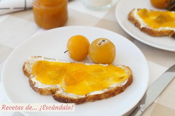 Receta de mermelada de ciruelas amarillas casera, facil y rica