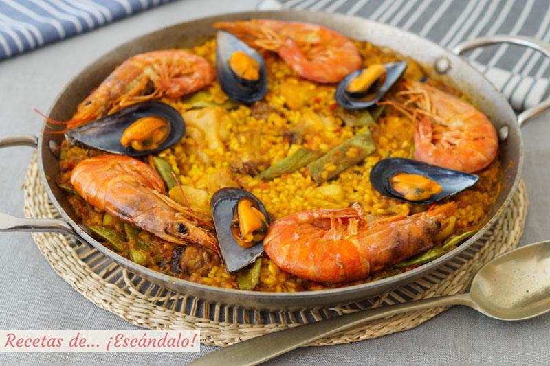 Paella Mixta Con Marisco Carne Y Verduras Receta De Arroz Deliciosa