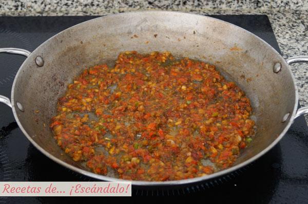 Verduras para la paella mixta