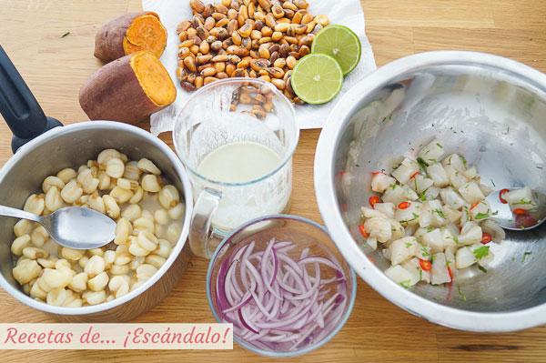 Como hacer ceviche peruano de corvina con leche de tigre, muy facil y rico