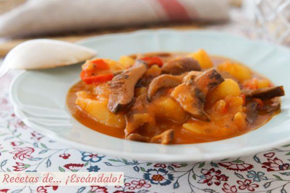 Receta de niscalos con patatas, también llamados rebollones, robellones o guiscanos