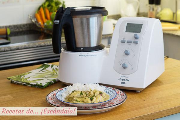 Receta de pollo al curry tierno y muy sabroso con el robot de cocina MyCook One