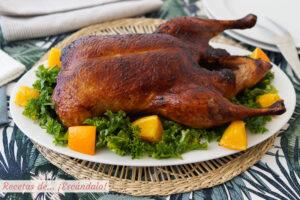 Pato a la naranja al horno, facil y delicioso