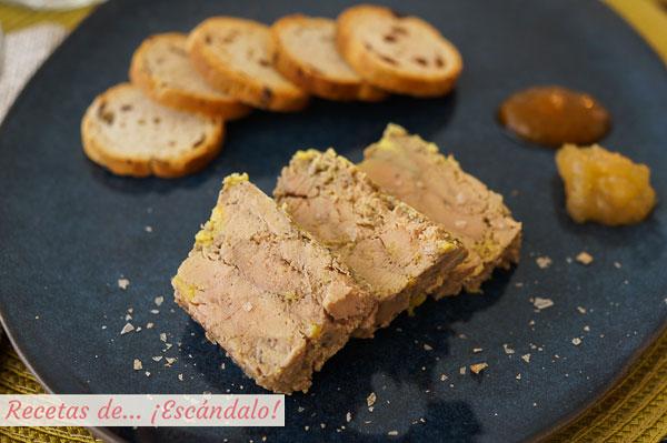 Receta sencilla y exquisita de foie gras micuit de pato casero