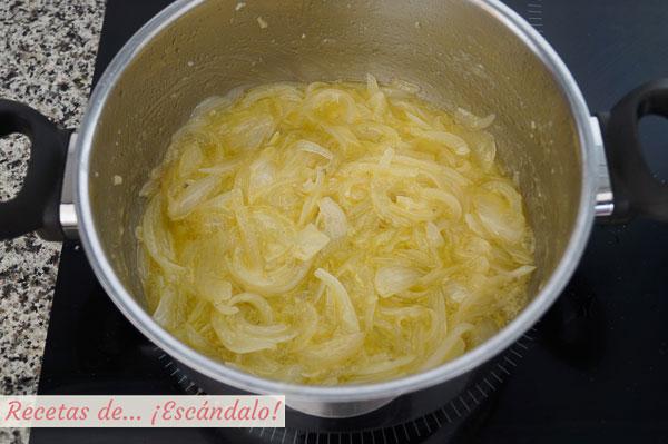 Cebolla para bacalao a la portuguesa