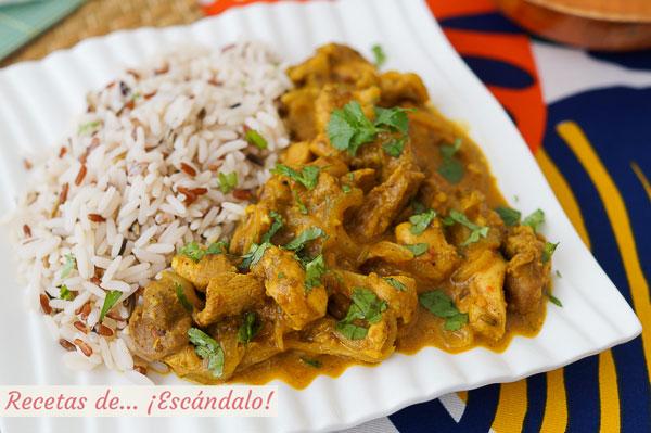 Como hacer pollo tikka masala con arroz y especias