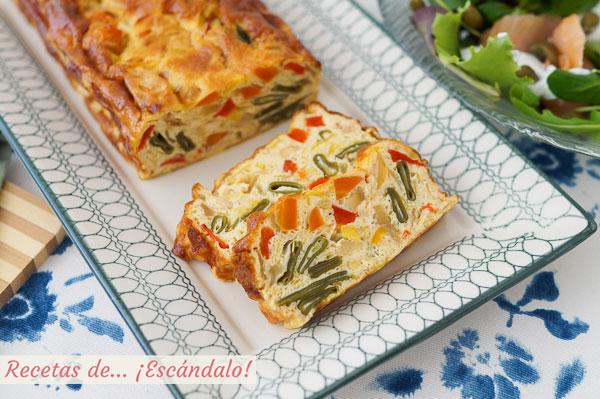 Como hacer pastel de verduras al horno, con o sin nata. Receta facil y rica