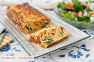 Pastel de verduras al horno, con o sin nata. Receta fácil y rica