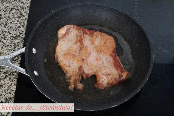 Secreto de cerdo iberico a la plancha