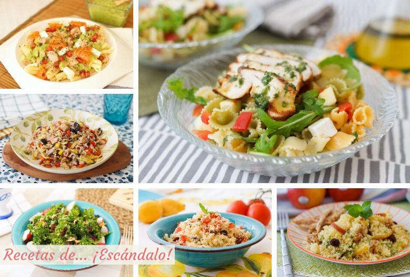 Las mejores ensaladas de pasta para todos los gustos y muy fáciles