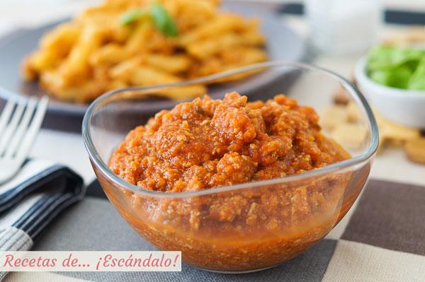 Receta de salsa bolonesa con Thermomix, muy sabrosa