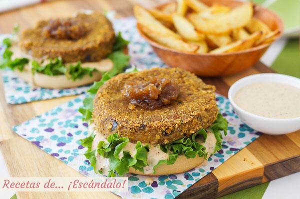 Receta de hamburguesas vegetales de lentejas. Muy sabrosas, cremosas y faciles