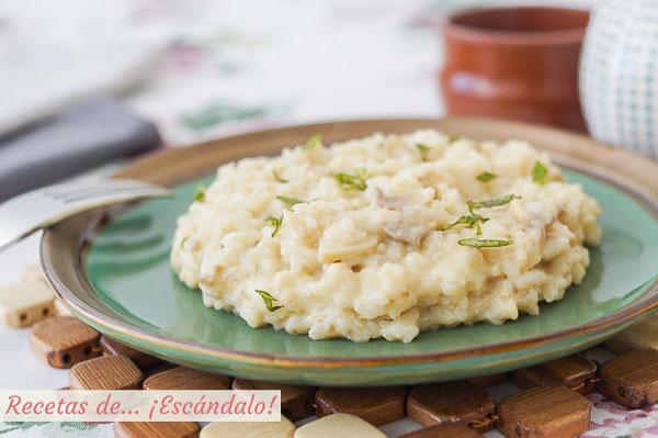Receta de risotto de champinones con Thermomix, cremoso y riquisimo