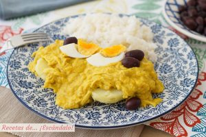 Aji de gallina. Receta peruana tradicional y deliciosa