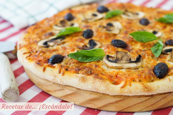 Como hacer masa de pizza en Thermomix. Casera, riquisima y facil