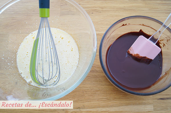 Ingredientes brownie de chocolate
