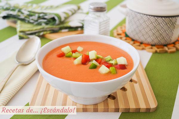 Receta de gazpacho andaluz en Thermomix, refrescante y saludable