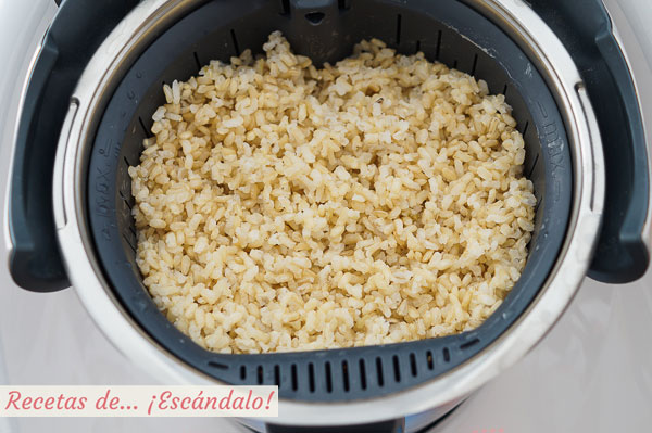 Arroz integral cocido con thermomix