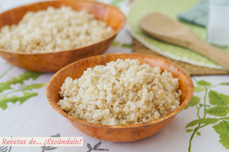 Arroz integral de guarnicion con Thermomix