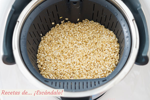 Arroz integral thermomix