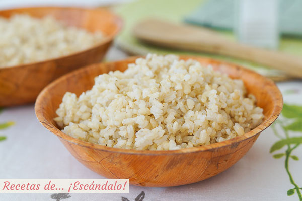 Receta de arroz integral cocido de guarnicion con Thermomix