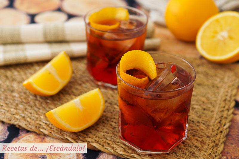 Cocktail Negroni, un clasico italiano para el aperitivo. Receta e ingredientes