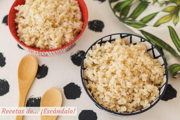 Como preparar arroz integral y que quede sabroso y suelto