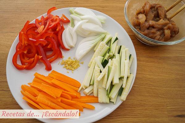 Ingredientes chow mein