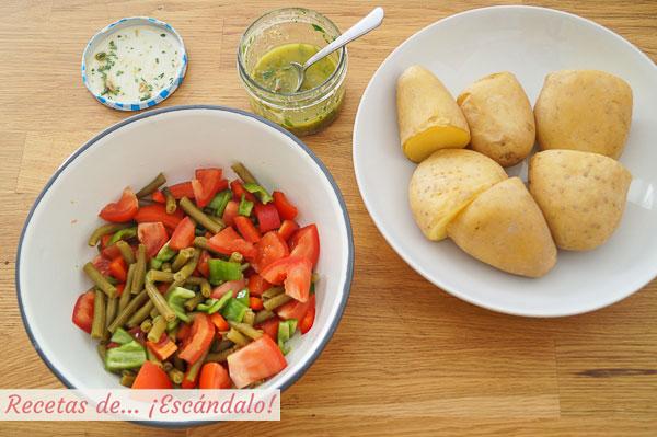 Ingredientes ensalada de verano de patata