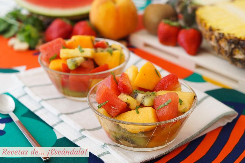 Macedonia de frutas casera, la receta del postre mas saludable y sabroso