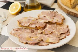 Carne mechada o carne mecha. Receta tradicional andaluza