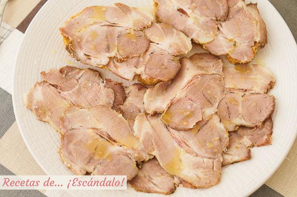 Como hacer arne mechada o carne mecha. Receta tradicional andaluza