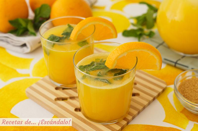 Naranjada casera, el refresco mas natural y sencillo